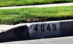 curb address painting